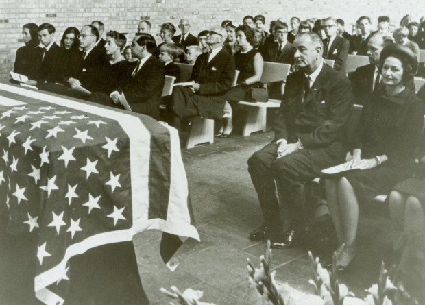 lbj at adlai funeral