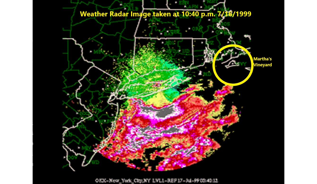 Radar Image Marthas Vineyard 7.16.99